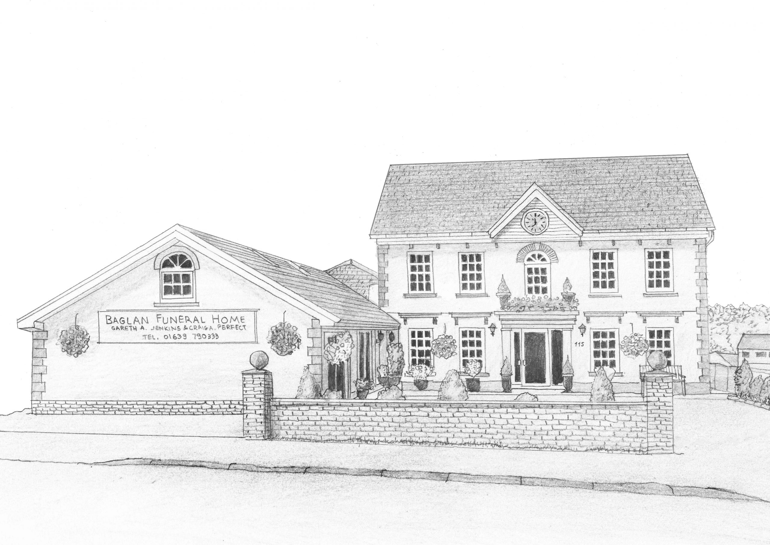 BAGLAN FUNERAL HOME DRAWING - revisioned 2