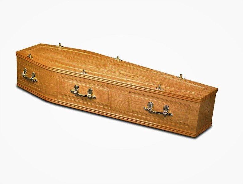 Rutland Light Oak Coffin